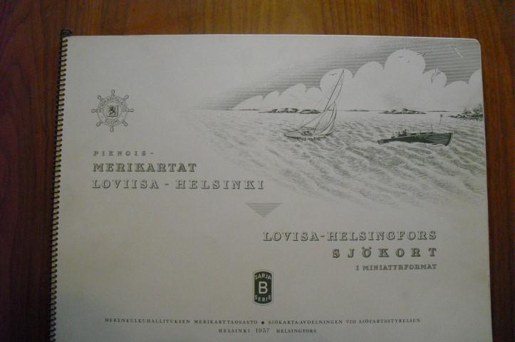 Merikartta Loviisa-Helsinki vuodelta 1957, myydään asiakkaan lukuun