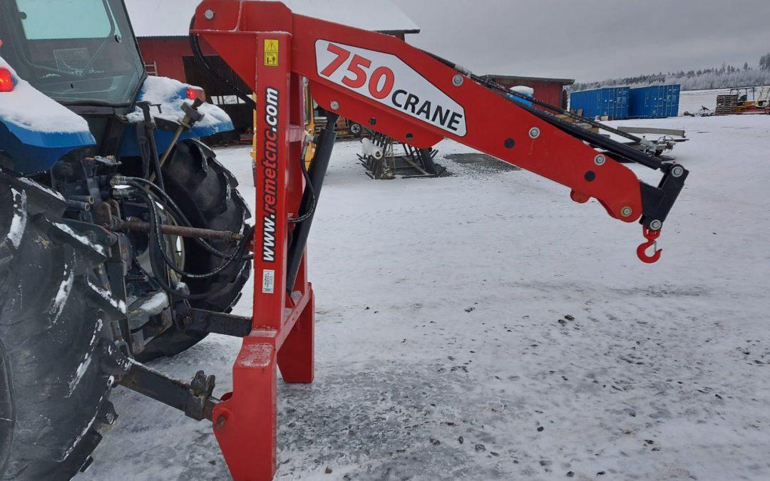 Remet Crane 750 – hydraulinostin – VIDEO