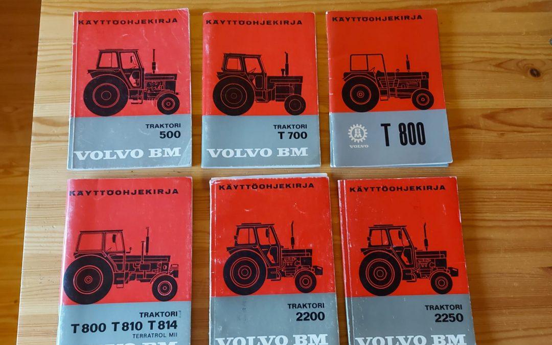 Volvo BM ohjekirjoja traktoriin – suomenkielisiä