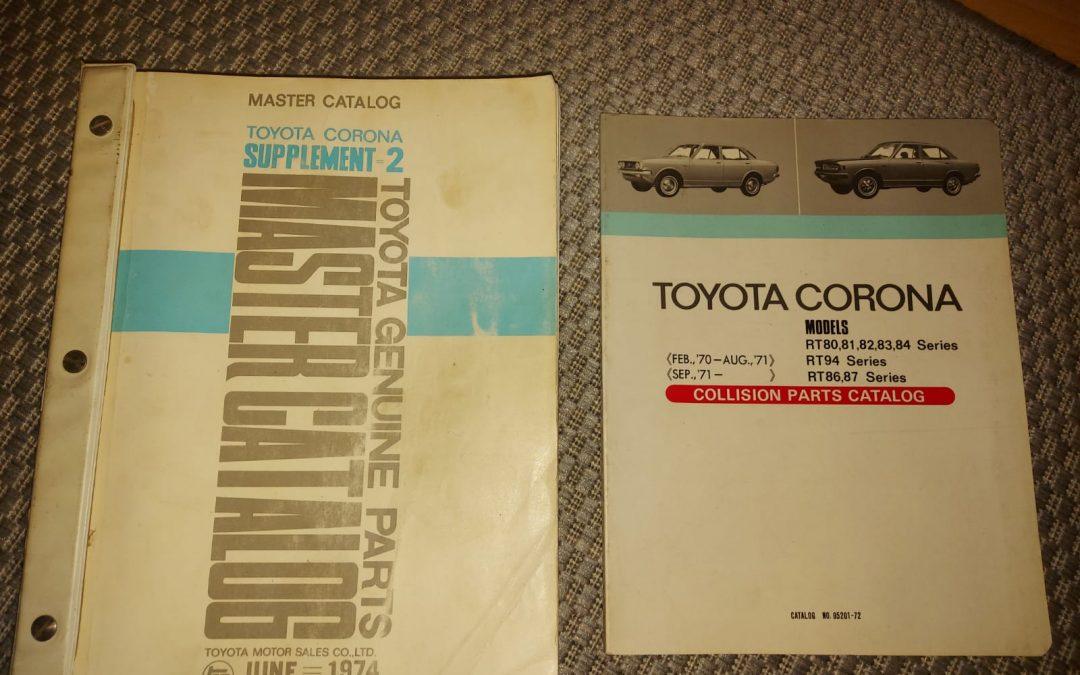 Toyota Corona varaosakirjoja