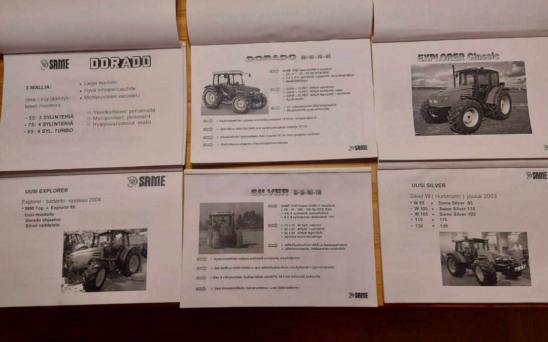 Same traktorien myyjän käsikirjoja