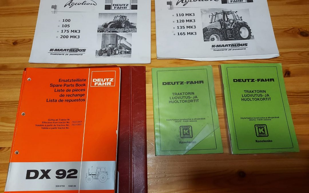 Deutz-Fahr traktorien kirjallisuutta