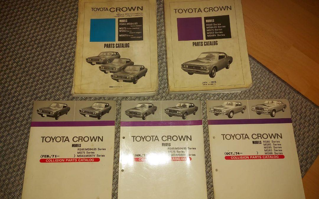 Toyota Crown varaosakirjoja / varaosaluetteloita
