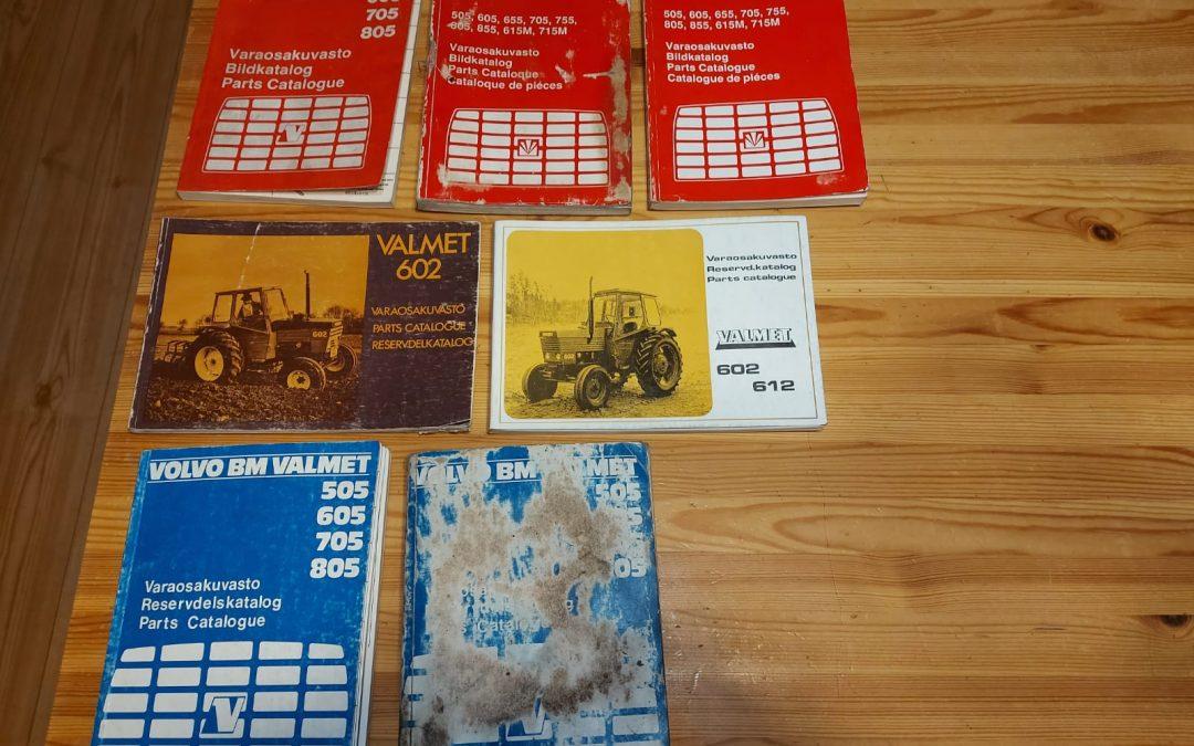 Valmet varaosakirjoja traktoreihin