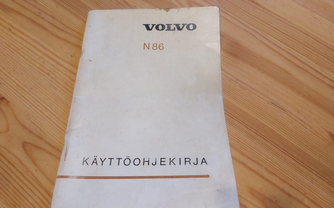 Volvo N86 ohjekirja kuorma-autoon